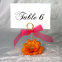 Sheer Favor Ribbon used on a Table Number Holder
