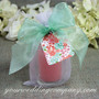 Sheer Favor Ribbon - Candle Wedding Favor