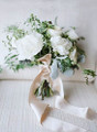 Wide Satin Ribbon on a Wedding Bouquet