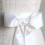 Wide Satin Ribbon on a Wedding Dress