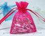 Petite drawstring wedding favor bags - Hot Pink