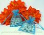 Petite drawstring wedding favor bags - Aqua