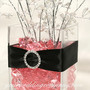 Black Double-Faced Satin Ribbon - Wedding Centerpiece