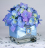 Hydrangea Centerpiece - Satin Ribbon & Buckle Accents