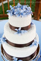 Double Faced Satin Ribbon on Wedding Cake