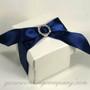 Glossy White Wedding Favor Box