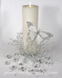 Pillar Candle Centerpiece / Decorated Unity Candle