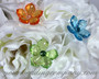 Acrylic Favor Flowers in a Wedding Bouquet