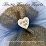 Rustic Wooden Hearts - Wedding Favor Decoration