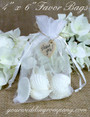 Organza Wedding Favor Bag with Natural Ark Shells - 4 x 6 inch