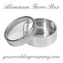 Round Aluminum Favor Boxes