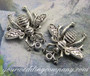 Antique Silver Honey Bee Charms / Pendants