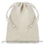 Drawstring Burlap Favor Bags - Ivory