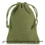 Drawstring Burlap Favor Bags - Moss