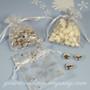 Organza Snowflake Favor Bags