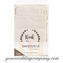 Stamped Linen Wedding Favor Bags - Thank You Lavender Favors