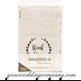Stamped Linen Wedding Favor Bags - Thank You Lavender Favors