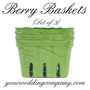 Farmer's Market Paper Berry baskets (pack of 3)