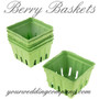 Farmer's Market Green Paper Berry Baskets