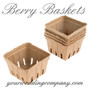 Farmer's Market Natural Paper Berry Baskets