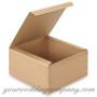"Kraft Folding Pinstripe Gift Box (8"" x 8"" x 4"")"