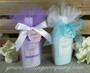 Lotion Bridal Shower Favors Wrapped in 15 inch wide Tulle Circles