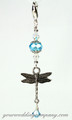 Dragonfly Wedding Bouquet Charm - Something Blue