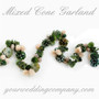 Glittered Mixed Cone Garland