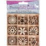 Mini Laser Cut Wood Shapes - Flower Theme (45 Pieces)