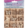 Mini Laser Cut Wood Shapes - Butterfly Theme (45 Pieces)