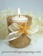Satin-Edged Chiffon Favor Ribbon Candle Decoration