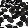 Black Silk Rose Petals