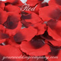 Red Silk Rose Petals (Two Tone)