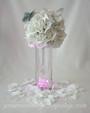 Pure White Rose Petals Surrounding a Wedding Centerpiece