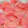 Coral Silk Rose Petals (Two Tone)
