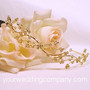 Gold-Plated Floral Rhinestone Tiara