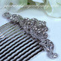 Swarovski Crystal Scroll Wedding Hair Comb