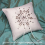 Snowflake Ring Pillow - winter wedding