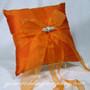 Tangerine Orange Silk Ring Pillow