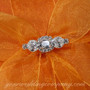 Tangerine Orange Silk Ring Pillow Detail