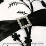 Miniature Rhinestone Buckle - Wedding Ring Pillow Decoration