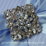 Swarovski Crystal Square Brooch