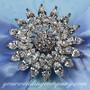 Swarovski Crystal Sunflower Brooch - Wedding Accessory