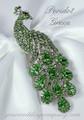 Swarovski Crystal Peacock Brooch