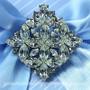 Swarovski Crystal Diamond Brooch