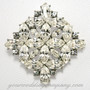 Swarovski Crystal Diamond Brooch - Wedding Accessory