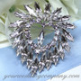 Swarovski Crystal Heart Brooch
