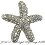 Crystal Starfish Brooch (AB)