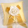 Lemon-Yellow Wedding Ring Pillow