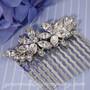Swarovski Crystal Floral Wedding Hair Comb